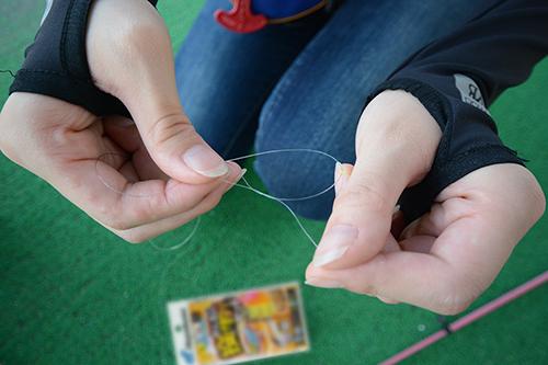 釣り方1.道糸に仕掛をセット