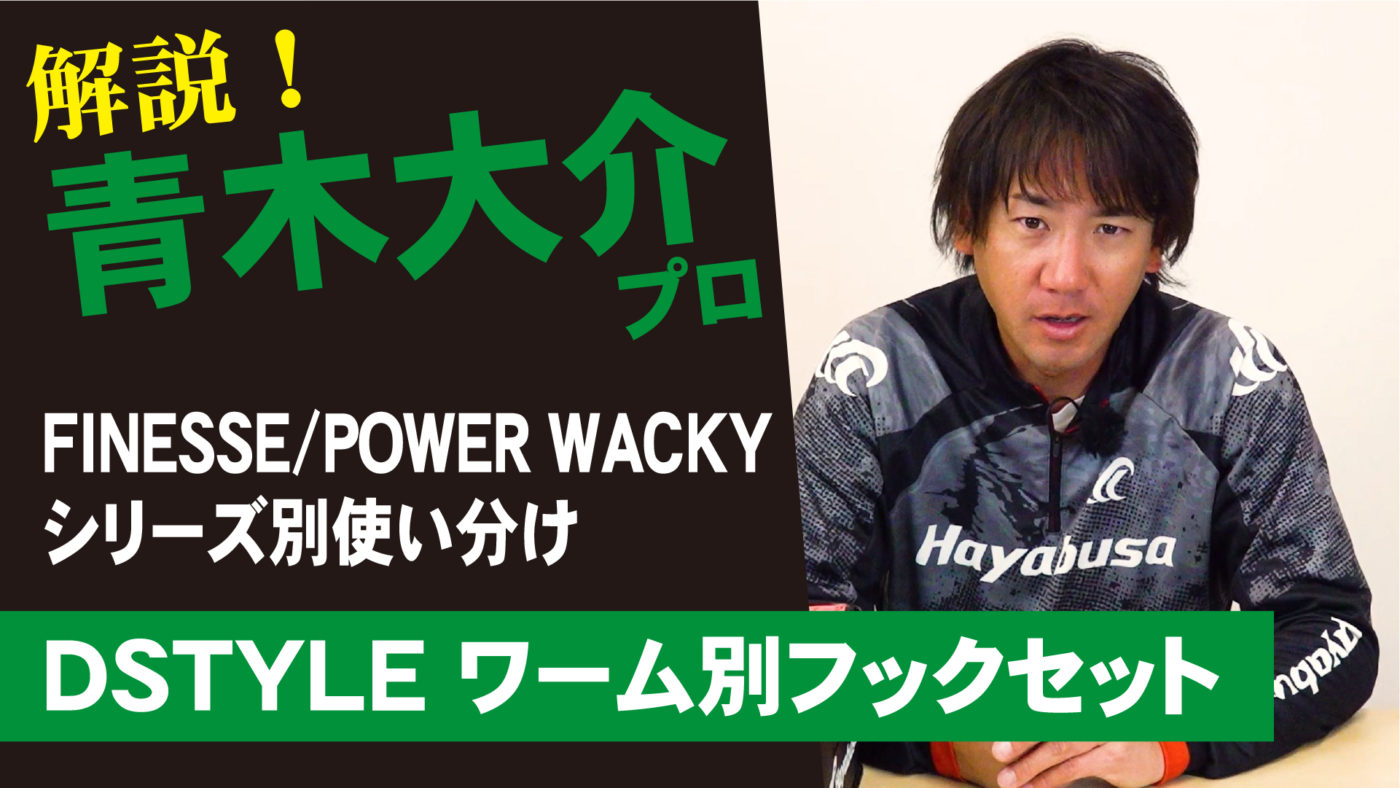 【青木大介プロデュース】 Wacky シリーズ別使い分け解説【DSTYLEワーム別フックセット】