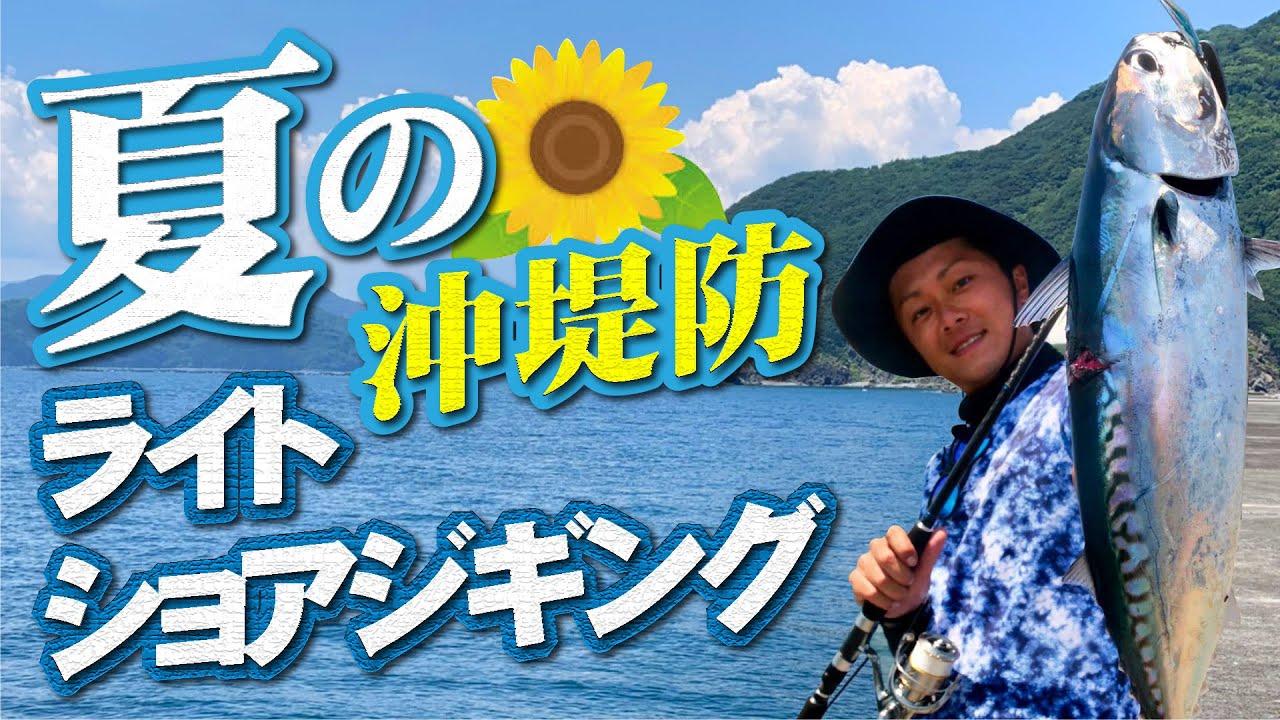 【ジャックアイ】夏の沖堤防ライトショアジギング!